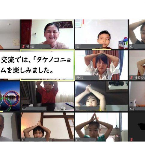 日本人学校のお友達と一緒!